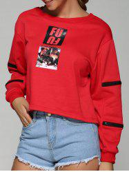 Zip Sleeve Pullover Sweatshirt -