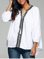 Ethnic Style High Low Blouse -
