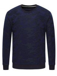 Long Sleeve Texture Crew Neck Sweatshirt -