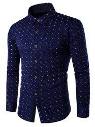 Button Up Breast Pocket Fleece Lined Printed Shirt