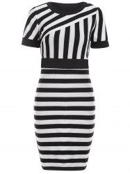 Striped Color Block Bodycon Dress