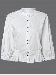 Button Down Ruched Blouse -