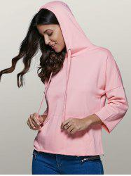 Hooded Long Sleeve Big Pocket Hoodie