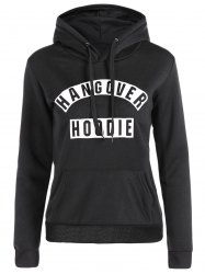 Drawstring Kangaroo Pocket Graphic Funny Hoodie