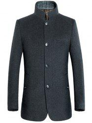 Stand Collar Coat Slimming Single-breasted Woolen -