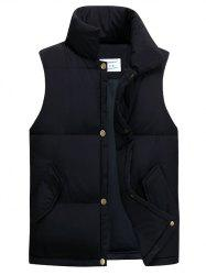 Casual Stand Collar Thicken Cotton-Padded Waistcoat -
