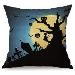 Durable Halloween Night Sofa Cushion Pumpkins Printed Pillow Case - COLORMIX