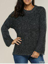 Slouchy Pullover Ribbed Sweater -