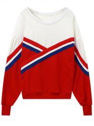 Round Neck Colour Block Sweatshirt -