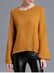 Flare Sleeve High Low Pull - Terreux Taille Unique