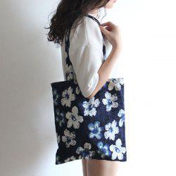 Floral Printed Linen Tote -