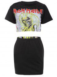 Cropped Top with Halloween Mini Skirt -