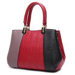 Metal Color Spliced Stitching Tote Bag