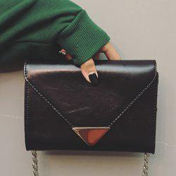 Metal Chains Envelope Bag -