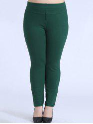 Plus Size Skinny Elastic Waist Pencil Pants -