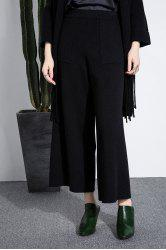 Knitted Palazzo Ankle Pants