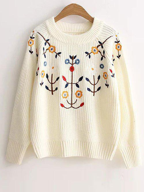 Outfits Floral Embroidered Vintage Sweater