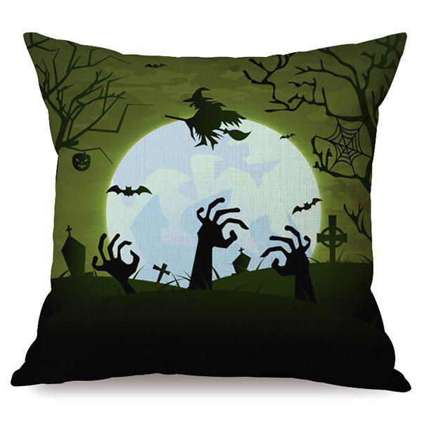 Outfits Antibacterial Happy Halloween Night Sofa Cushion Printed Pillow Case