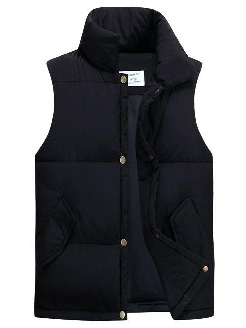 Online Casual Stand Collar Thicken Cotton-Padded Waistcoat