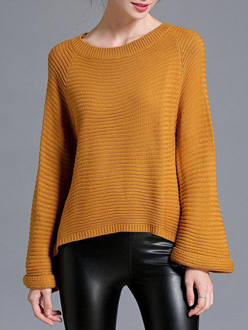 Flare Sleeve High Low Pull