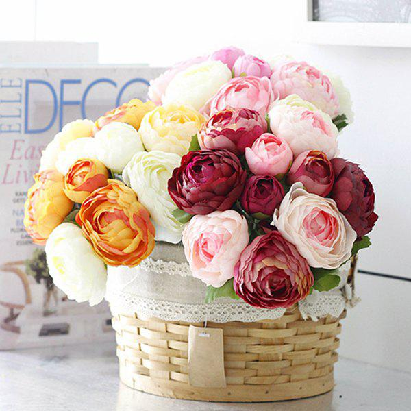 Fashion Wedding Bridal Bouquet Peony Artificial Flower