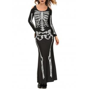 Halloween Adult Witch Costume Maxi Dress - Black - One Size