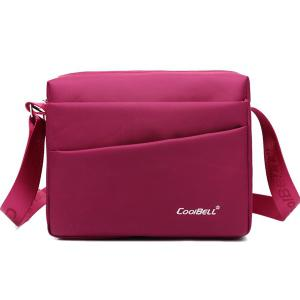 Nylon Square Shape Zipper Crossbody Bag
