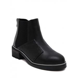 Chain Elastic Band Stitching Ankle Boots