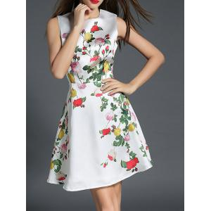 Floral Print Fit and Flare Floral Cocktail Dress