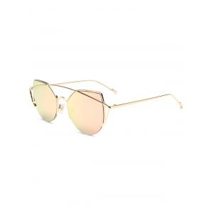 Hipsters Crossbar Irregular Cat Eye Mirrored Sunglasses