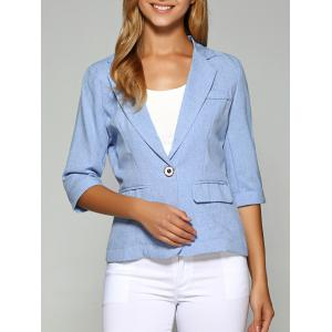 Lapel One Button Slimming Plain Blazer