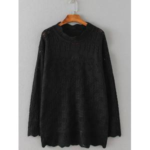 Openwork Textured Cable Knitwear