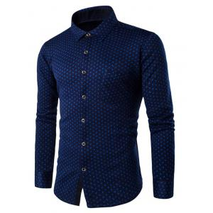 Small Compass Pattern Thermal Shirt