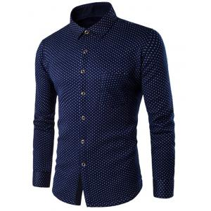 All-Over Little Flotal Pattern Thermal Shirt