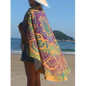 Round Shape Print Beach Throw