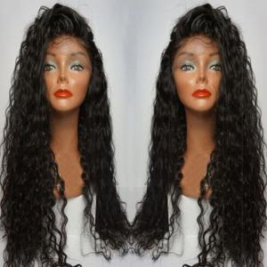 Long Side Parting Curly Lace Front Human Hair Wig