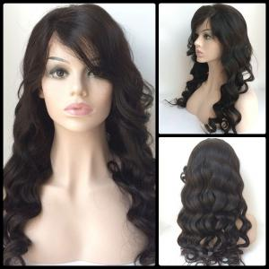 Long Side Bang Loose Wave Lace Front Human Hair Wig