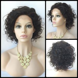 Short Wave Lace Front Human Hair Wig