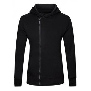 Gloves Design Side Zip Up Long Sleeve Hoodie