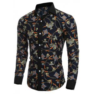 Slim-Fit 3D Vintage Printed Shirt