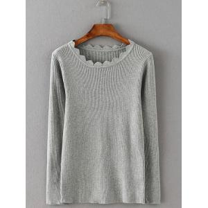 Wave Cut Slimming Knitwear