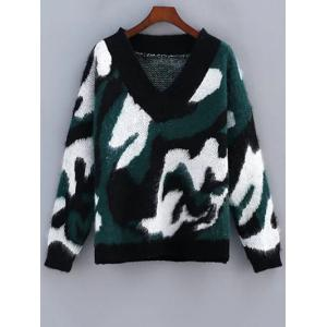 Camo Mohair Sweater