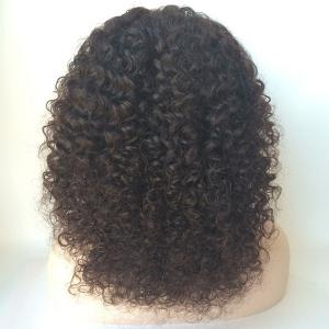 Middle Shaggy Curly Lace Front Human Hair Wig -