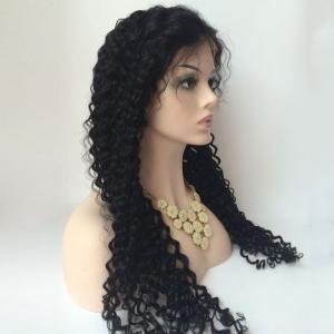 Curly Long Side Parting Lace Front Human Hair Wig -
