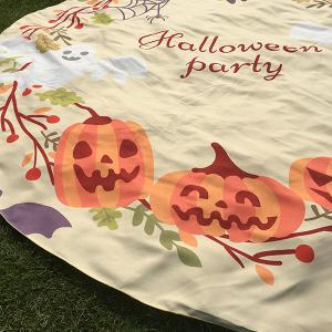 Festival Halloween Carnival Ghost Pumpkin Pattern Round Beach Throw -