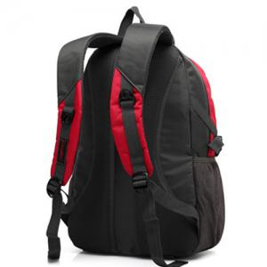 Nylon Couleur Spliced ​​Zippers Backpack - Rouge