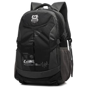 Nylon Color Spliced Zippers Backpack