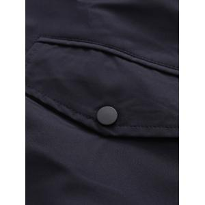 Hooded Water Resisitant Jacket - BLACK L