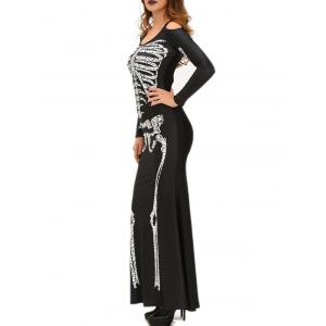Halloween Adult Witch Costume Maxi Dress - BLACK ONE SIZE