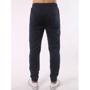 Stripe Insert Drawstring Jogger Pants - CADETBLUE 5XL